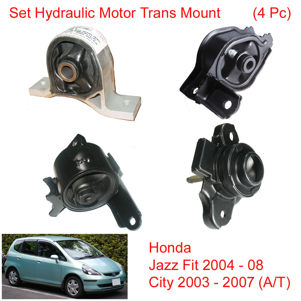 Set Hydraulic Engine Motor Mount For Honda Jazz Fit 2004 - 08 City 03 - 07  (A/T)