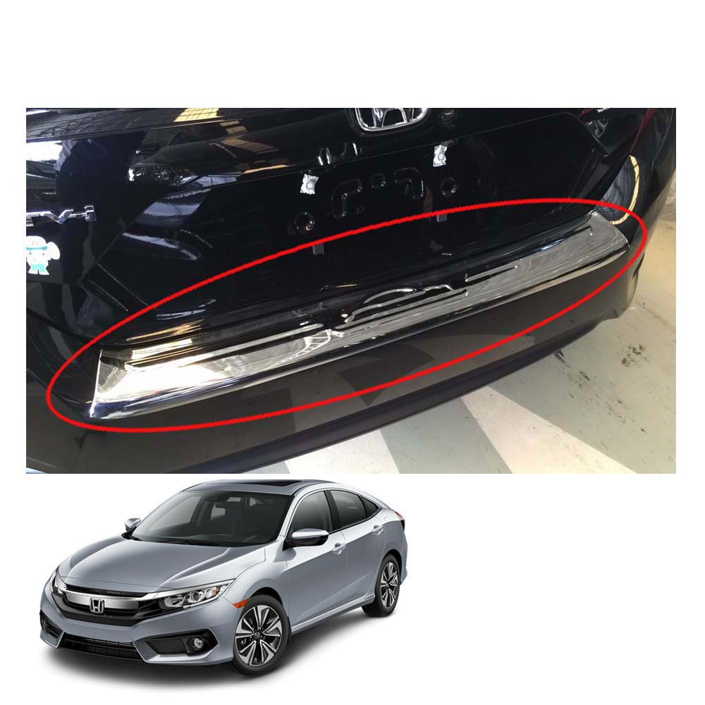 Fit For Honda Civic 2012-2014 Sedan Chrome  Chrome Trunk Lid Cover Trim