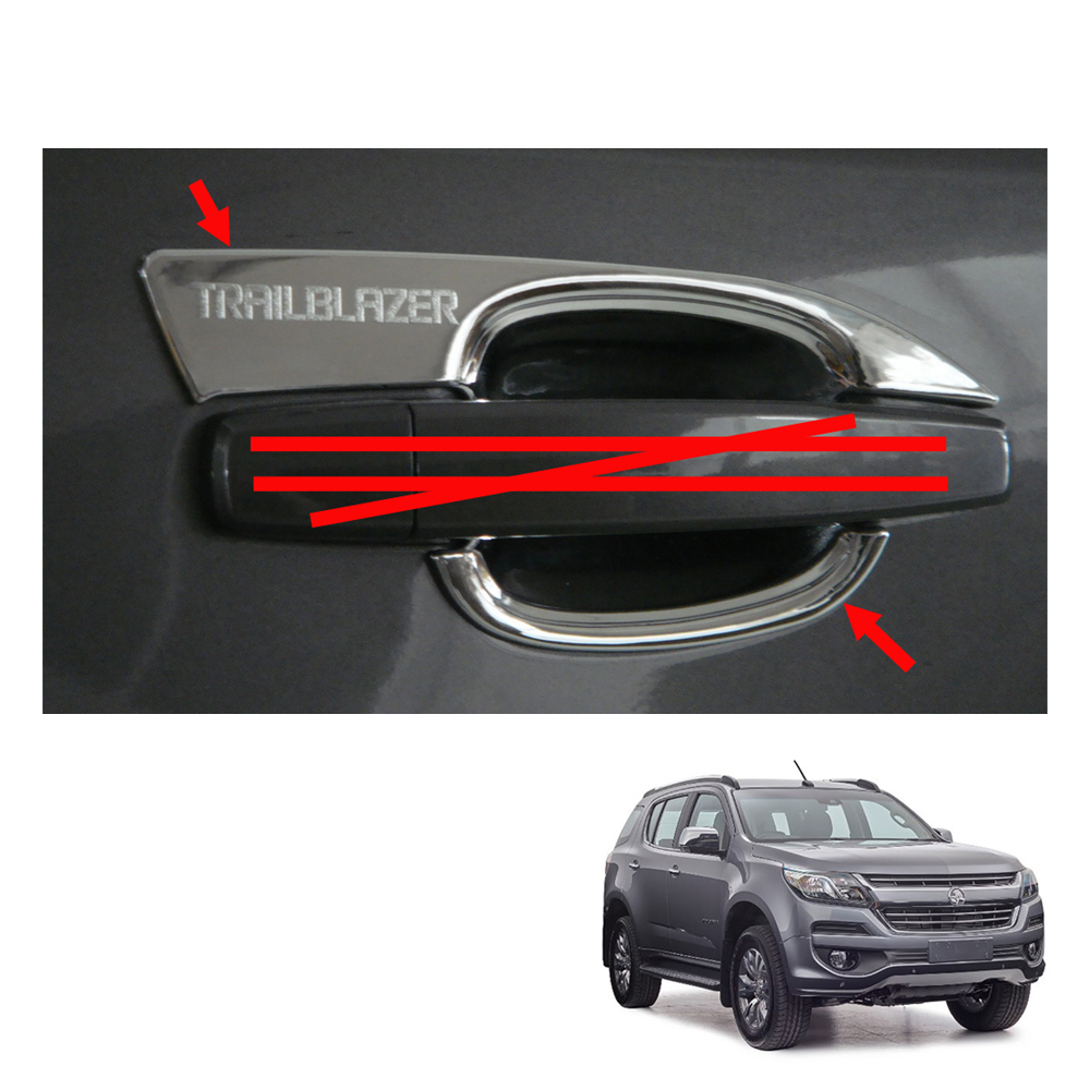 For Ford F150 2015 2016 17 2018 Chrome 4 Door Back Bowl Plate Covers Protection