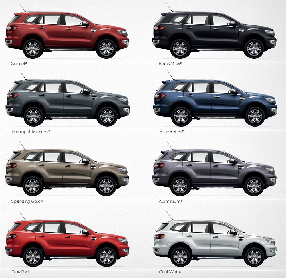 Ford Everest 2017 Colors >> Front Side Skirt Body V1 Painted 2 Pc For Ford Everest ...