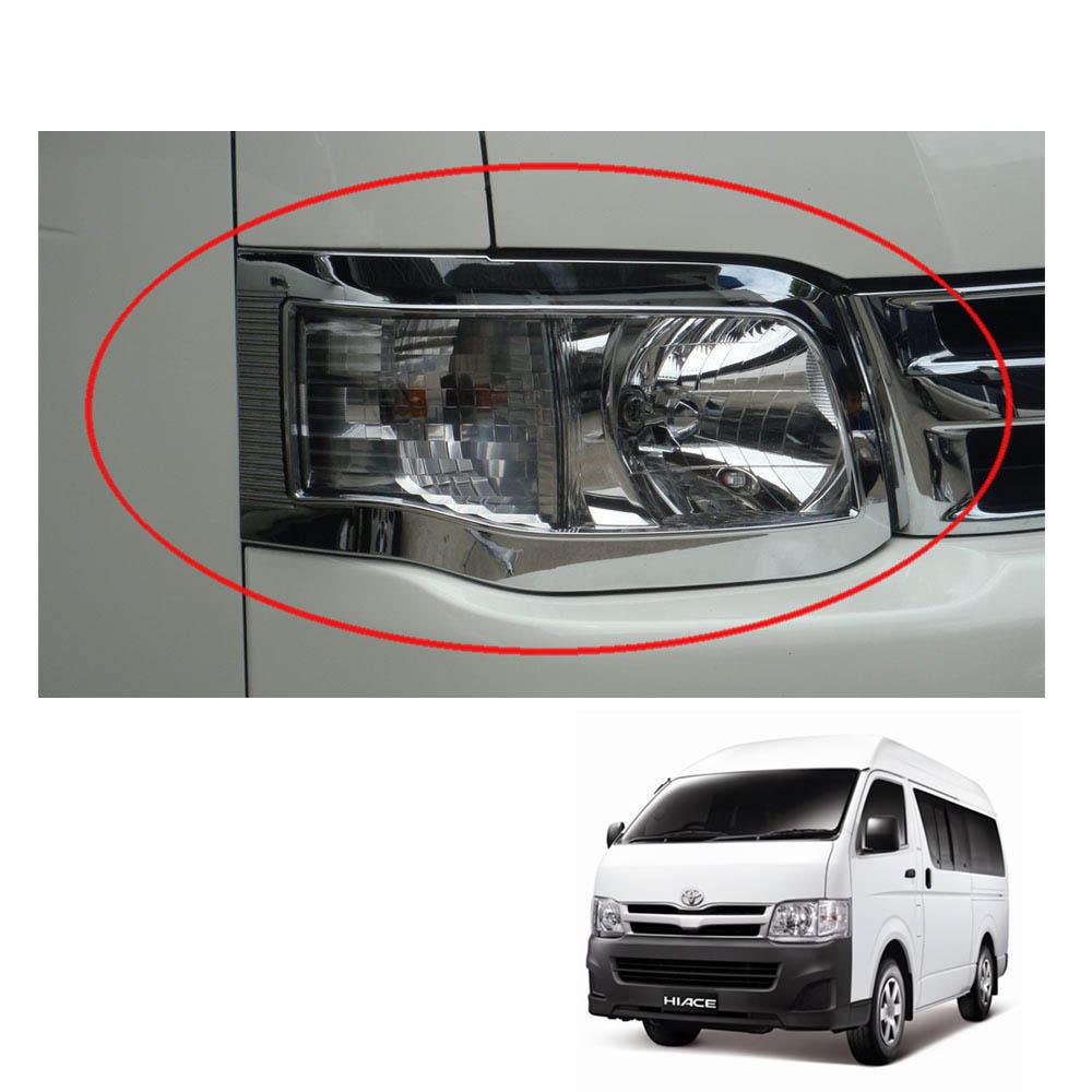 For Toyota Hiace 2014-2016 Head Lamp Light Matte Black Cover Trim