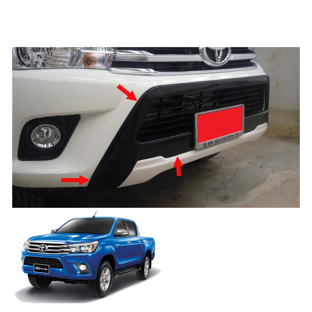 Tail Lamp Light Cover Chrome Trim For Toyota Hilux Revo SR5 M70 M80 UTE 15-2017