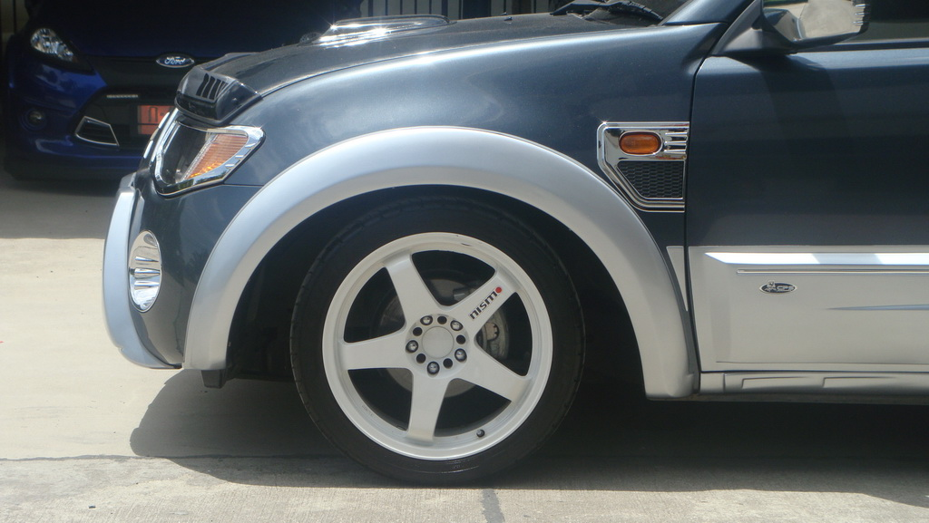 "Fender Flares Wheel Silver V1 5/"" 4 Pc Fit Mitsubishi L200 Triton 2006-2014"