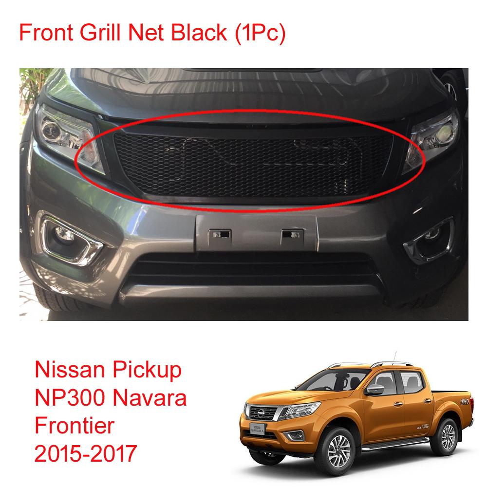 front grill grille net black fits nissan np300 frontier. Black Bedroom Furniture Sets. Home Design Ideas