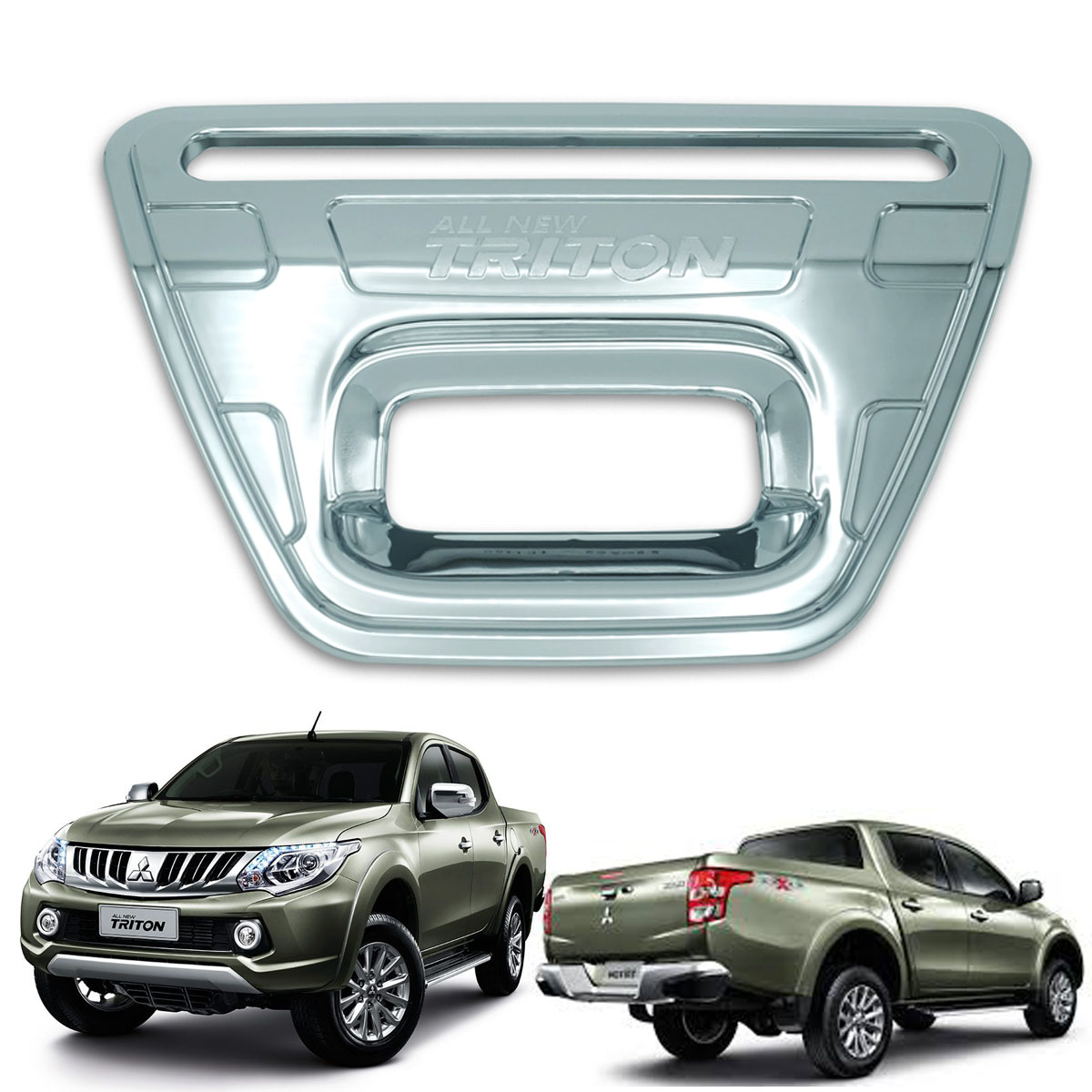 CHROME 4 DOOR HANDLE HAND COVER TRIM FOR MITSUBISHI TRITON 4 DOOR CAB 2015 TRUCK
