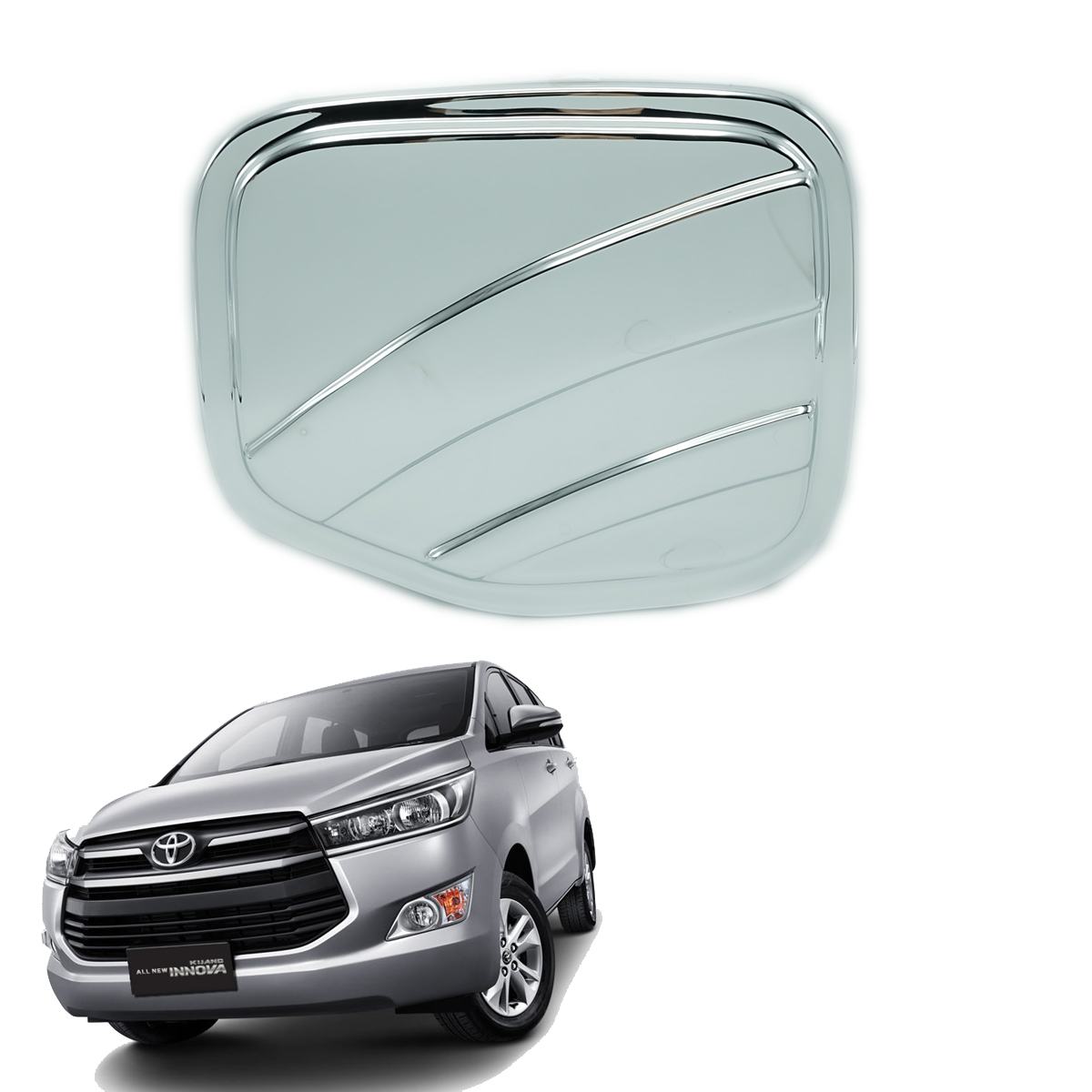 Details about On Toyota Innova Crysta 4 Door 2017 + Fuel Oil Tank Cap Cover Chrome Carbon 1 Pc