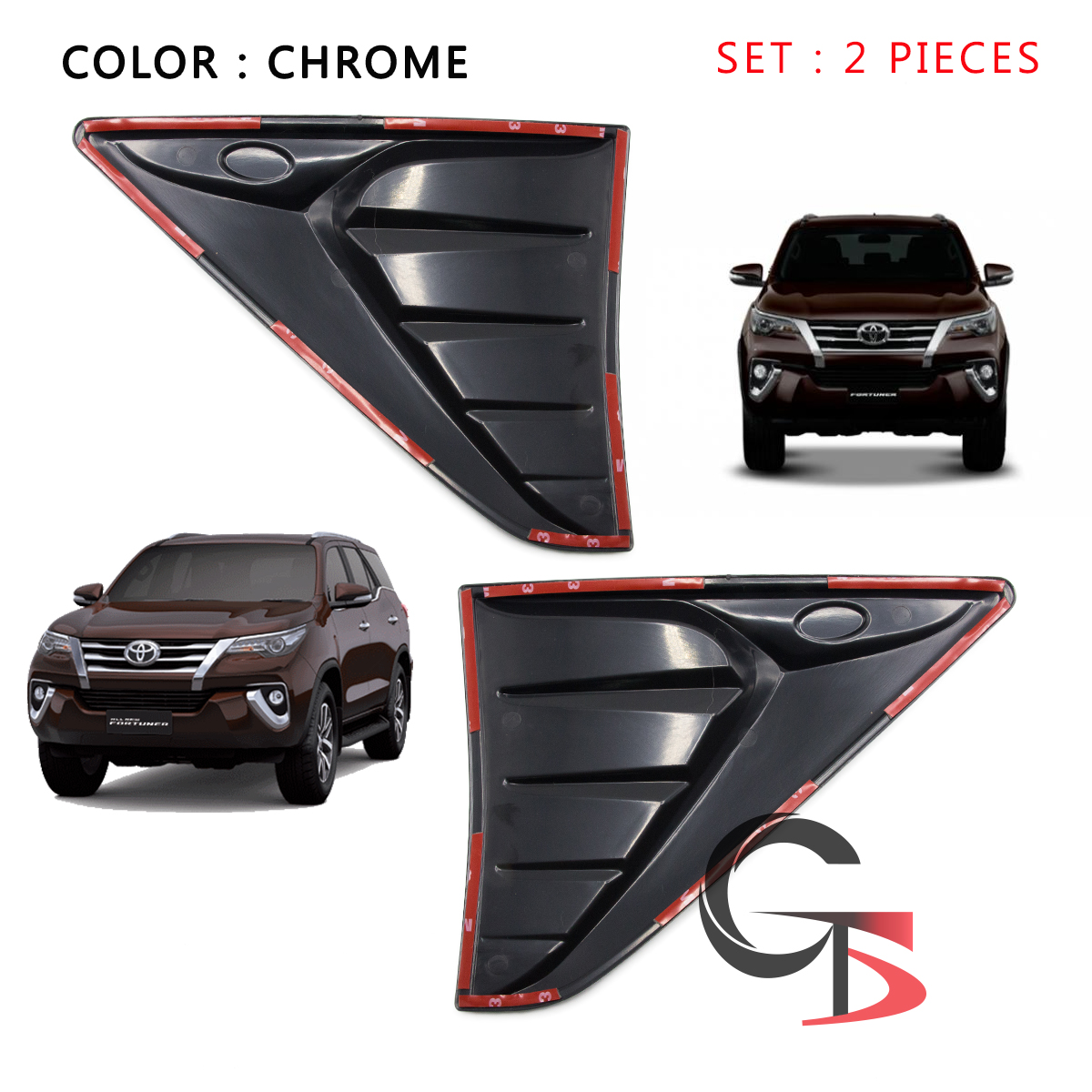 Satin Steel Metallic 2019 Gmc Canyon New Truck For Sale In: Side Vent Cover Trim Matte Black Trim Fits Toyota Fortuner