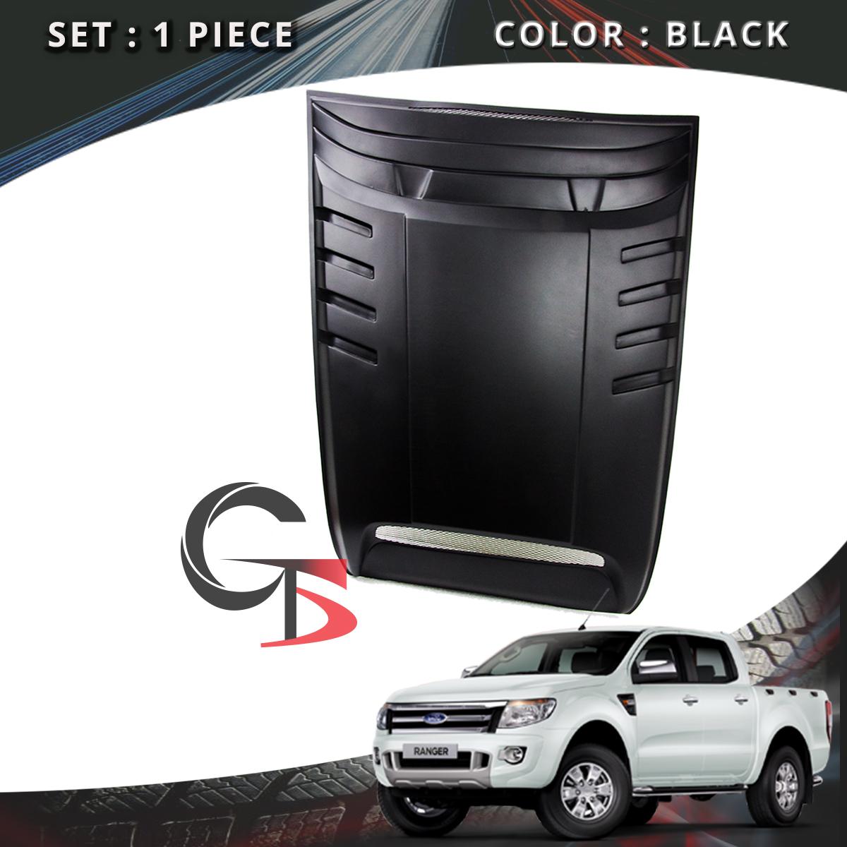 FIT Ford Ranger T6 Matte Black Bonnet Vent Cover Hood Scoop ABS 3M Type 2012