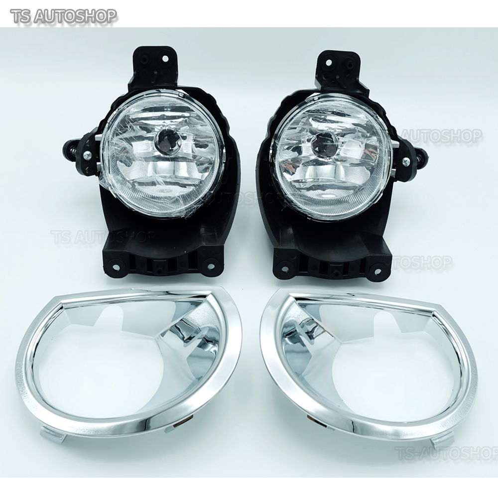 Set Black Fog Lamp Spot Light Fit Chevrolet Colorado