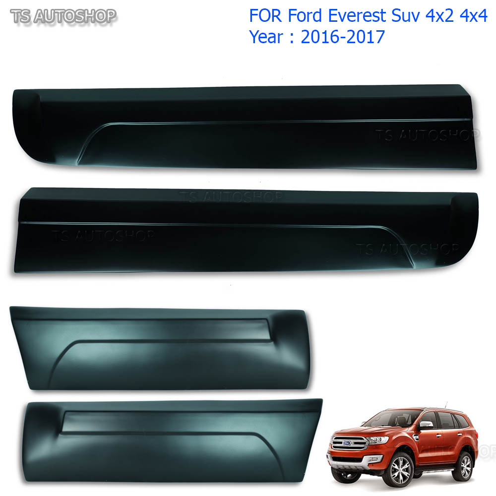 Fit Ford Everest 4x4 Suv 2.2 3.2 2016 2017 Body Cladding Side 4 Door Matte Black  sc 1 st  eBay & Fit Ford Everest 4x4 Suv 2.2 3.2 2016 2017 Body Cladding Side 4 Door ...