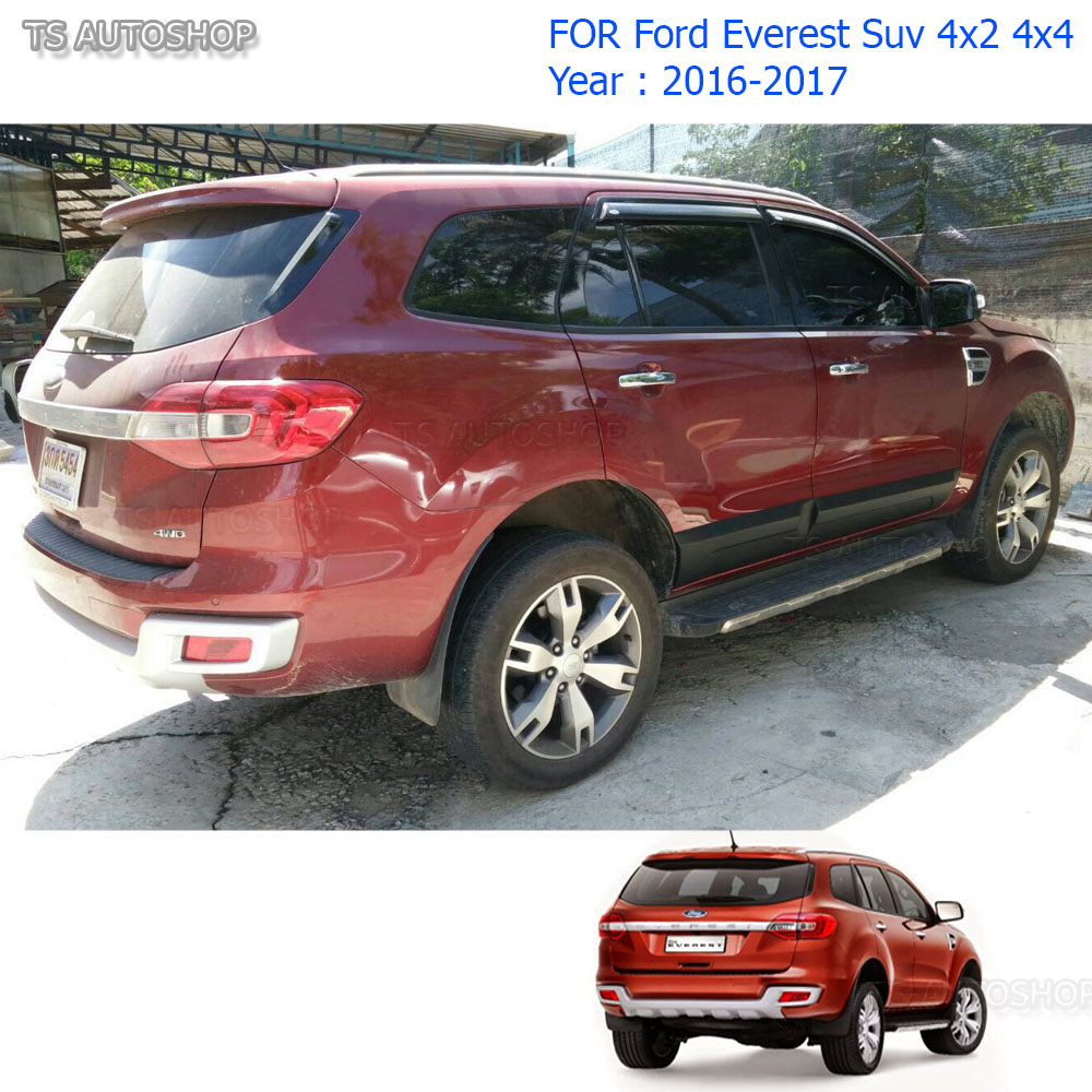 Fit Ford Everest 4x4 Suv 2.2 3.2 2016 2017 Body Cladding Side 4 Door Matte Black  sc 1 st  eBay & Fit Ford Everest 4x4 Suv 2.2 3.2 2016 2017 Body Cladding Side 4 ...