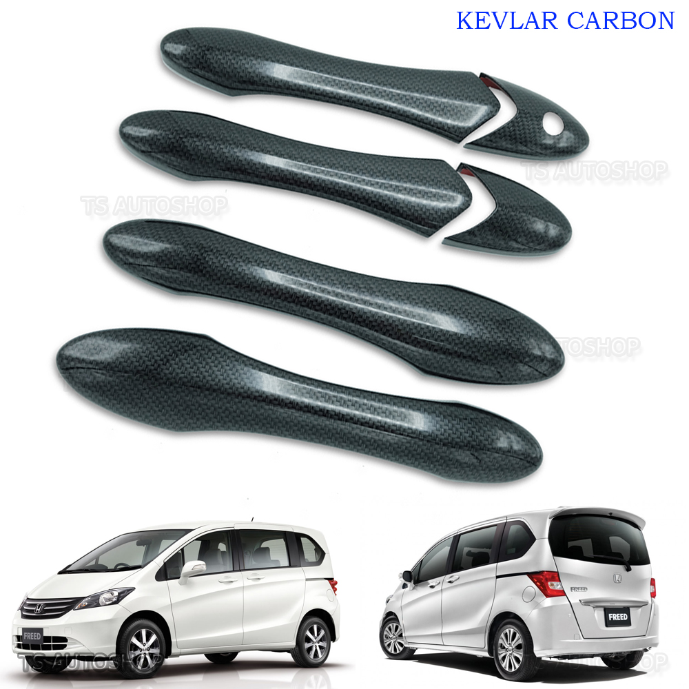 NEW CHROME DOOR HAND HANDLE INSERT BOWL COVER TRIM FOR HONDA FREED 2010-2014