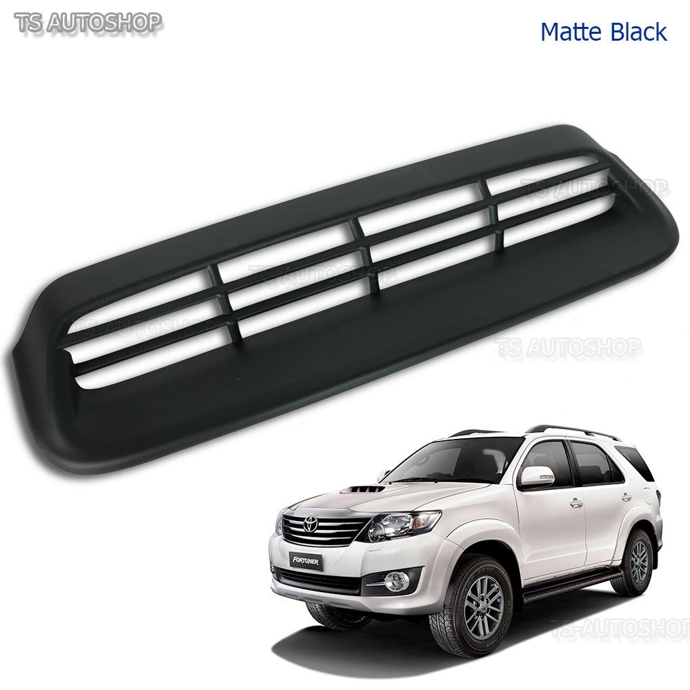 Matte Black Vent Hood Scoop Cover Fits Toyota Fortuner Suv 2Wd 4Wd 2012 2013 14