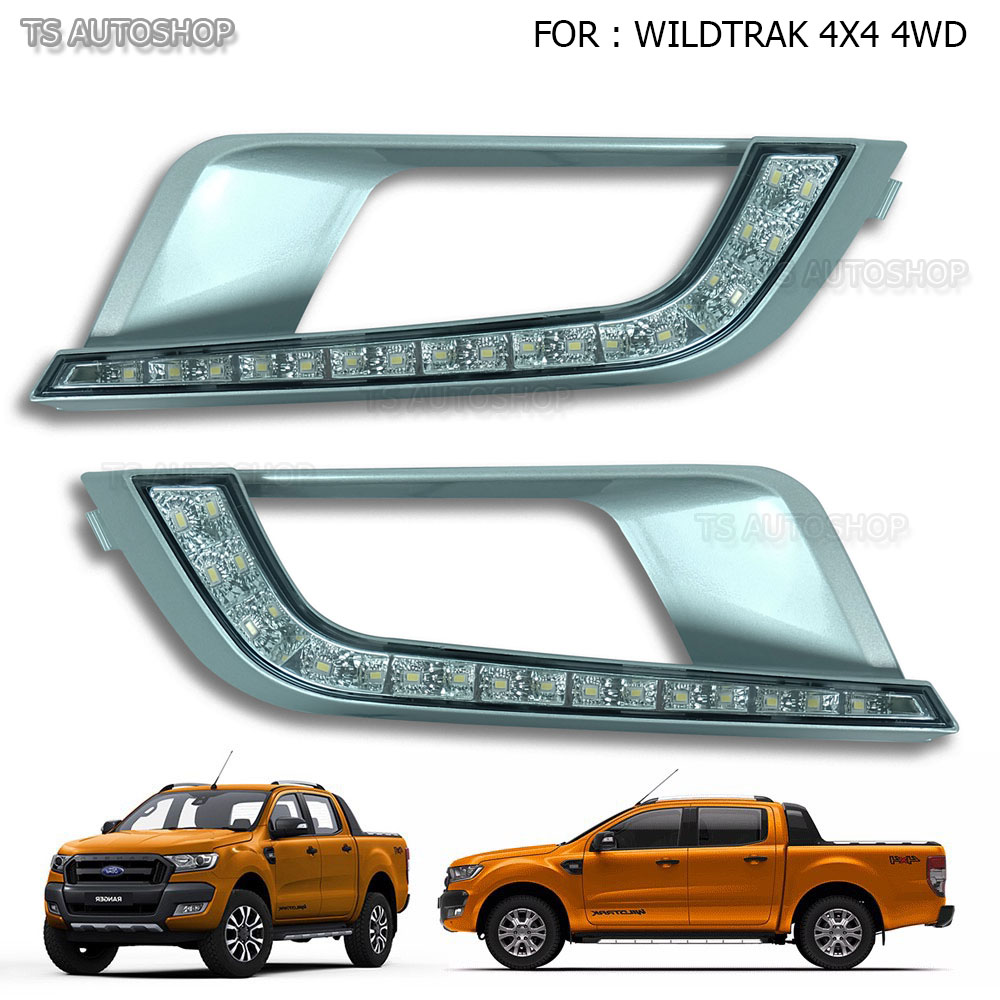 led drl fog lamp daytime running light for ford ranger t6