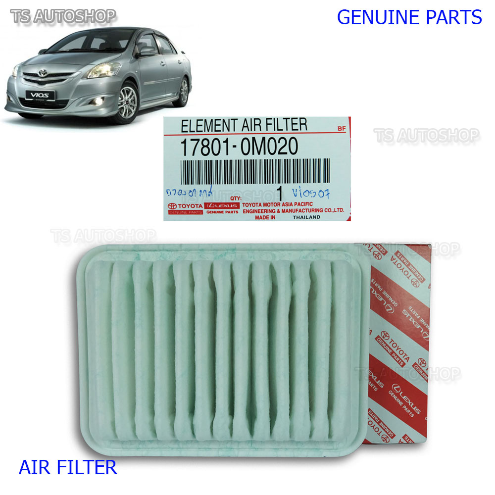 air filter genuine 17801 0m020 for toyota belta vios yaris. Black Bedroom Furniture Sets. Home Design Ideas