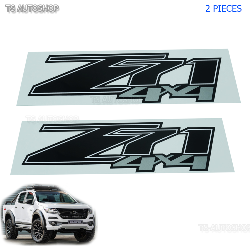 """Red Sivler Sticker /""""Z71 4x4/"""" Decal Fit Chevrolet Chevy Holden Colorado 2006-2011"""