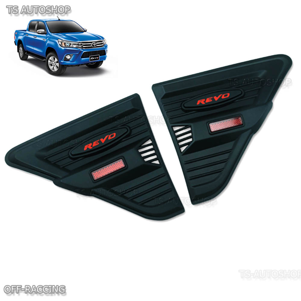 Side Vent Simulator Fender Matte Black For Toyota Hilux Revo M70 M80 Vigo Champ 2011 Trd 2015 2016