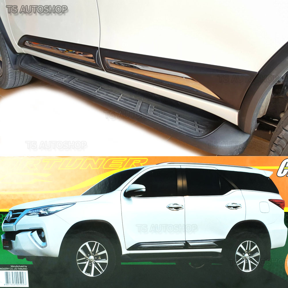 Fit For Toyota Fortuner SUV 2016-2017 Chrome Side Moulding Guard 4 PCS
