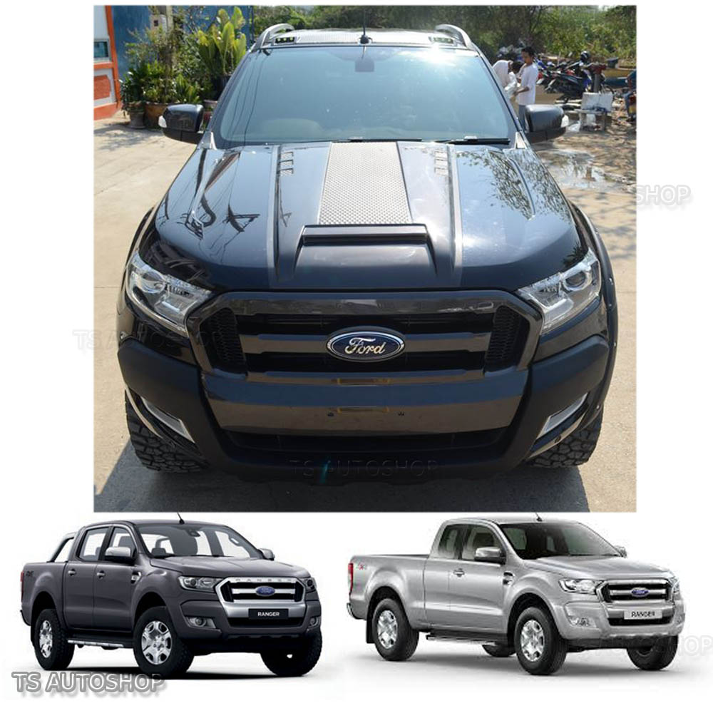Raptor Wildtrak Hood Scoop Bonnet Cover Fit Ford Ranger Px2 Mk2 2015 2016 2017