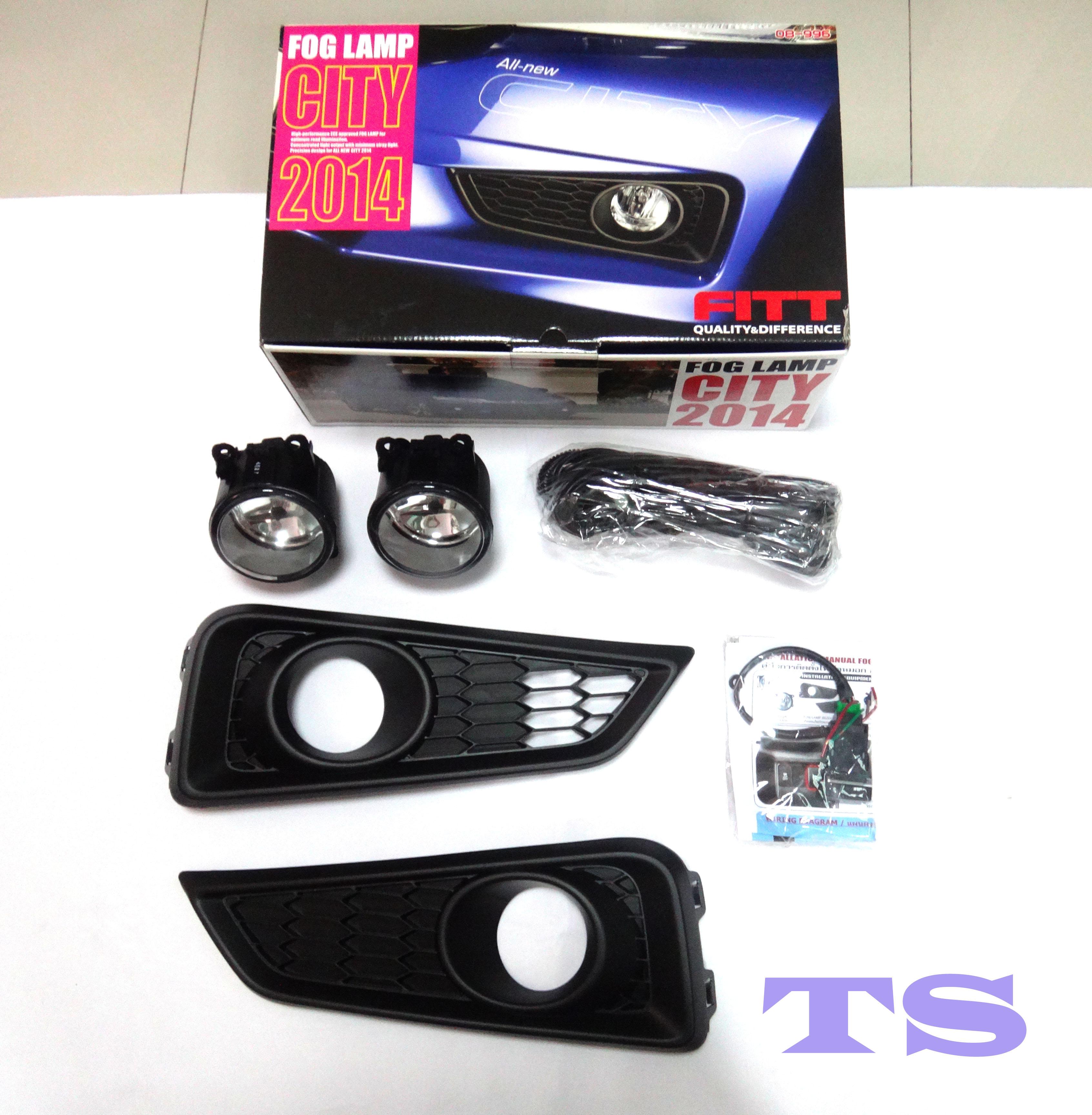 Set Kit Fog Lamp Spot Light Replacement For Honda Civic 4dr FB6 Sedan 2016 2017