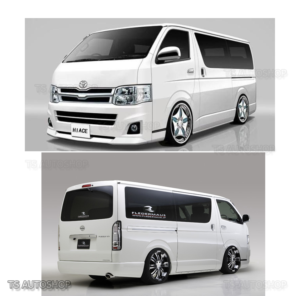08 16 fender flares wheel arch stainless 4dr for toyota hiace commuter van