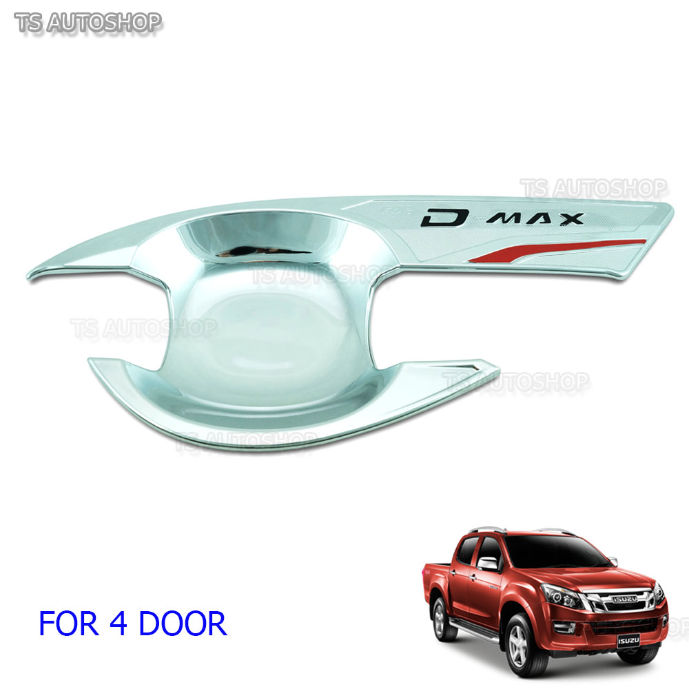 Chrome 4dr Bowl Housing Handle Cover Fit Isuzu Dmax D Max V Cross