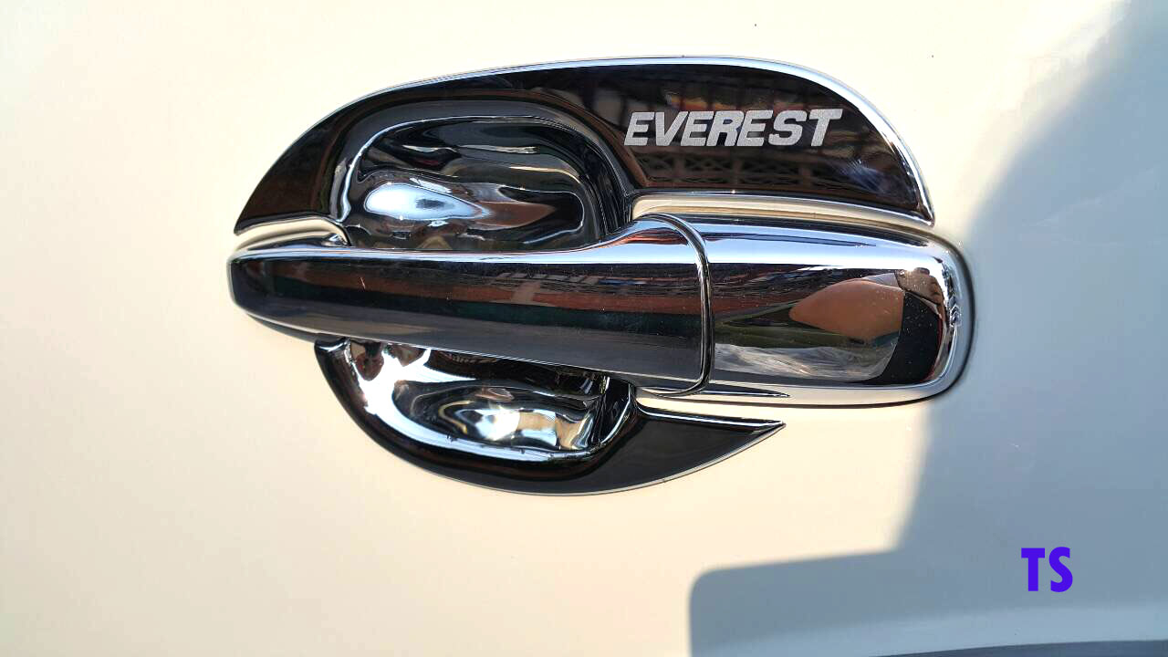 CHROME 4DOOR HANDLE BOWL INSERT COVER FOR FORD EVEREST 4 DOOR SUV 2010-2014 & Chrome 4door Handle Bowl Insert Cover Fits Ford Everest 4 Door Suv ...