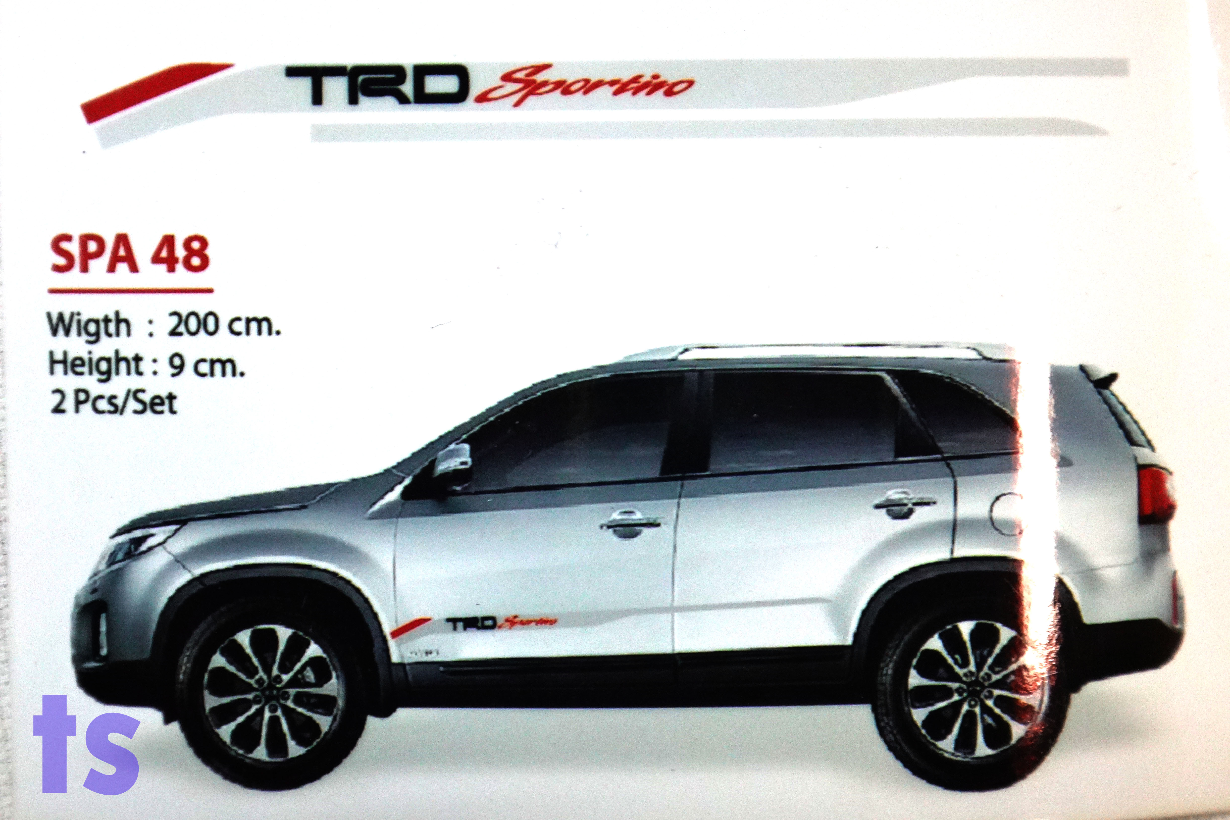 Set Side Door Grey Sticker Quot Trd Sportivo Quot Decal For Toyota