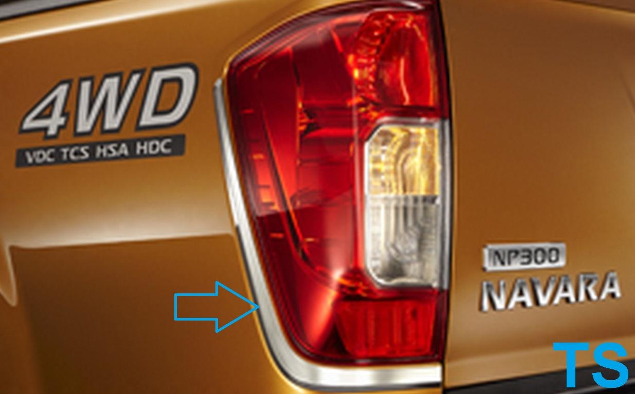 Auto Parts Interchange >> CHROME LINE TAIL LIGHT LAMP COVER FOR NISSAN NAVARA FRONTIER NP300 2015 GENUINE | eBay