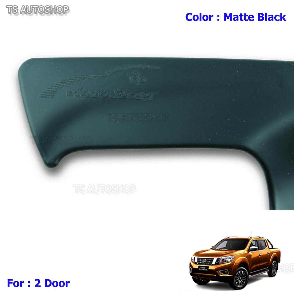 MATTE BLACK 4DR BOWL HOUSING HAND INSERT COVER FITS NISSAN NAVARA NP300 D23 2015
