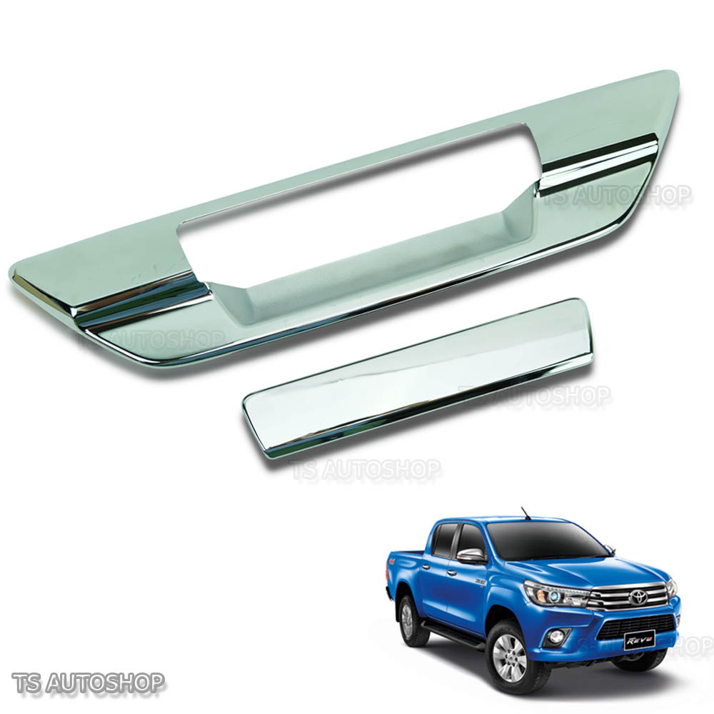 Fits Toyota Hilux Revo SR5 2015 2018 Chrome Red Bowl Door Handle Insert Cover