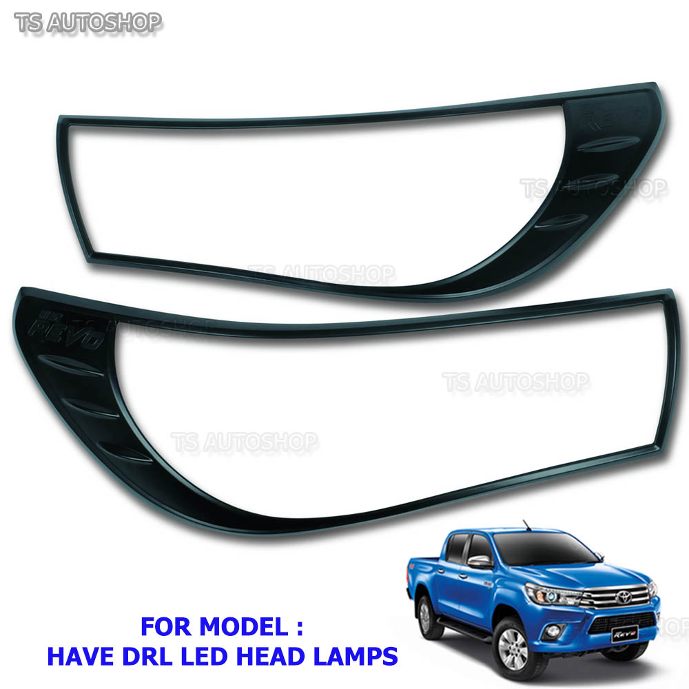 Black Head Tail Lamp Light Cover For Toyota Hilux Revo M70 M80 SR5 2015 2016 17