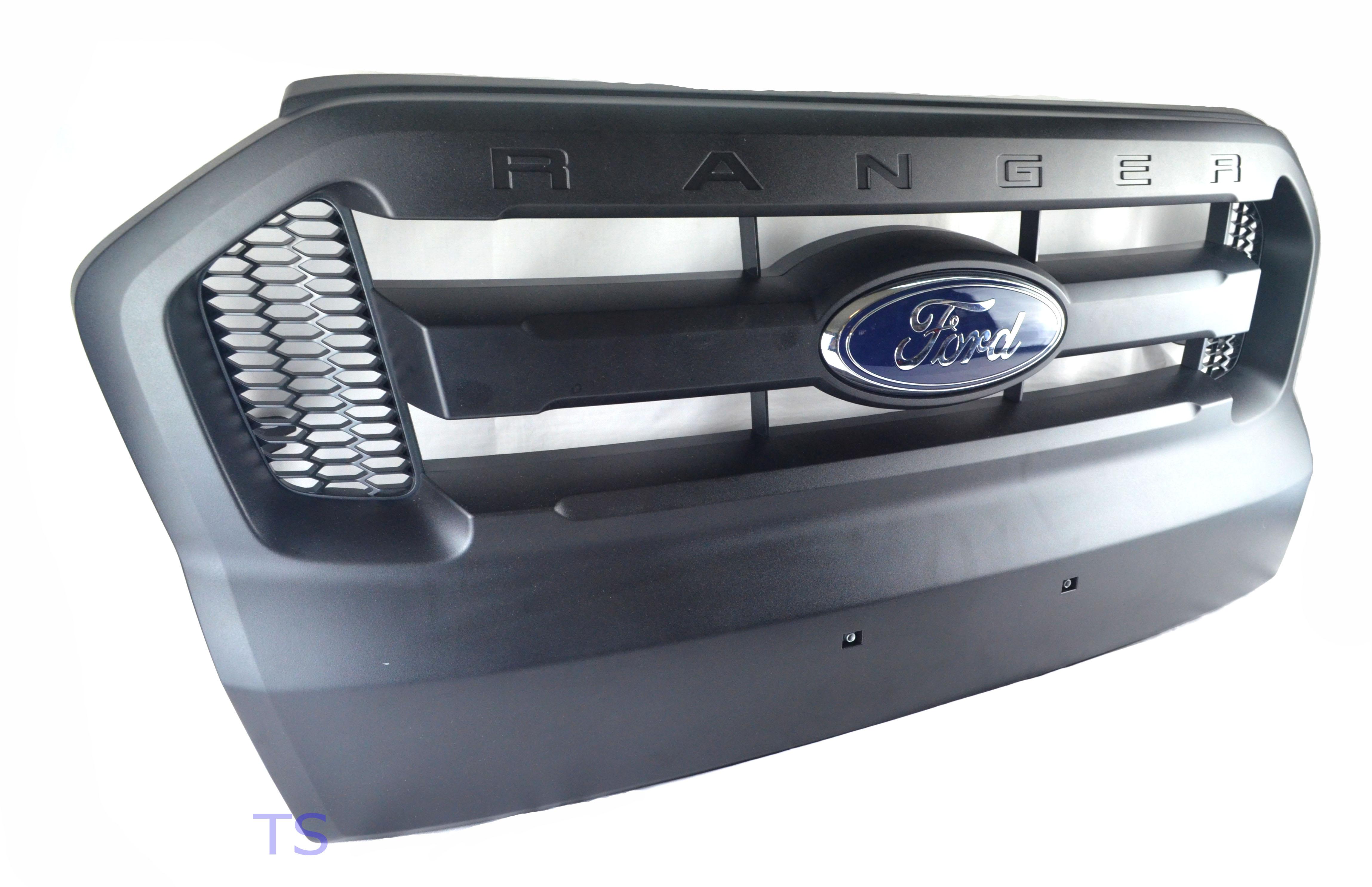 full black grill grille for ford ranger t6 mk2 xlt 4x4. Black Bedroom Furniture Sets. Home Design Ideas