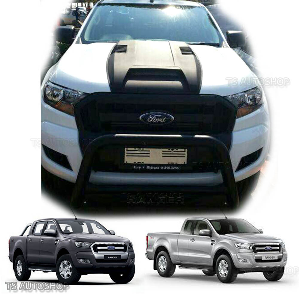 matte black hood scoop bonnet cover for wildtrak ford ranger mk2 px2