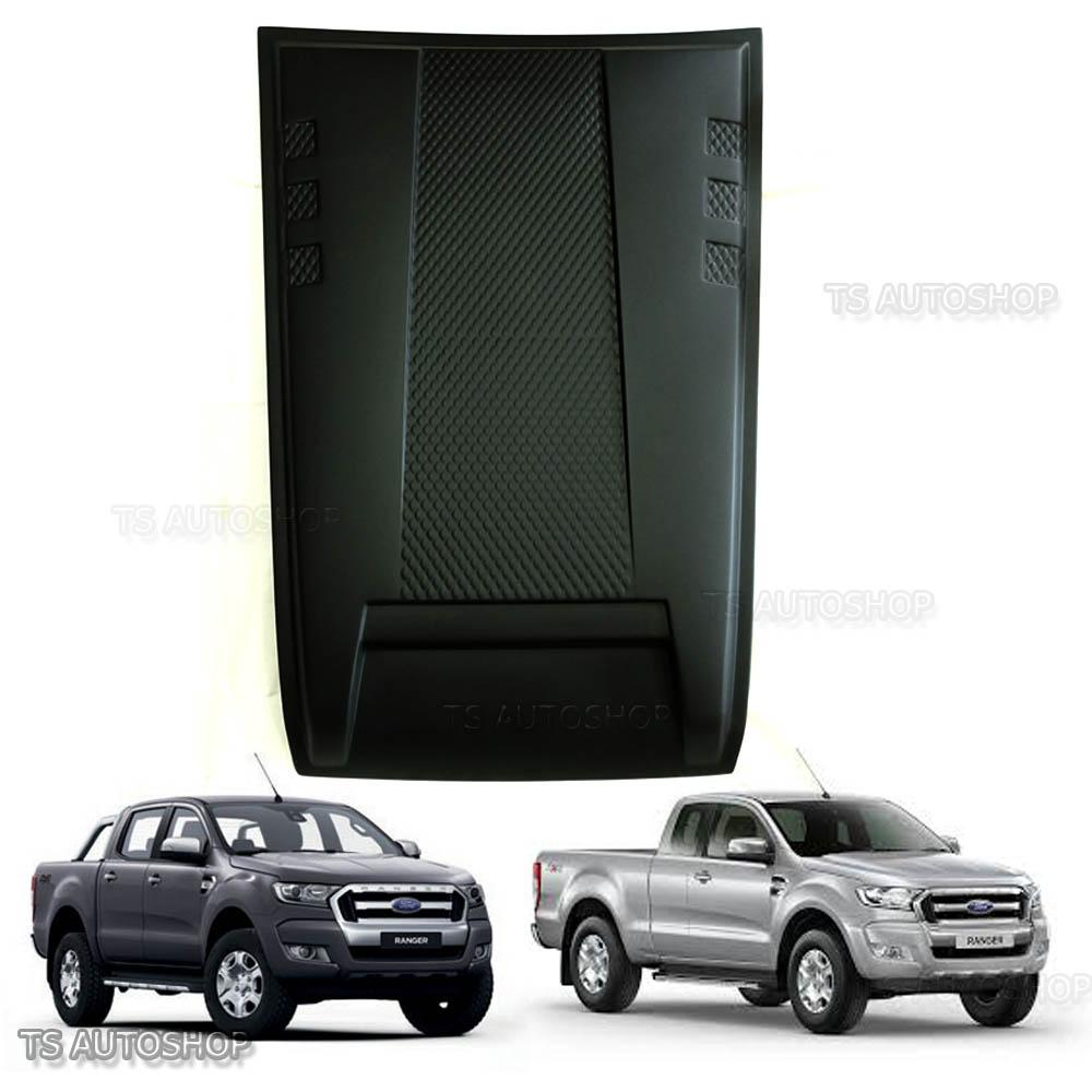 Bonnet Hood Scoop Cover Big Matte Black Fit Ford Ranger T6 Pickup 2015-2017