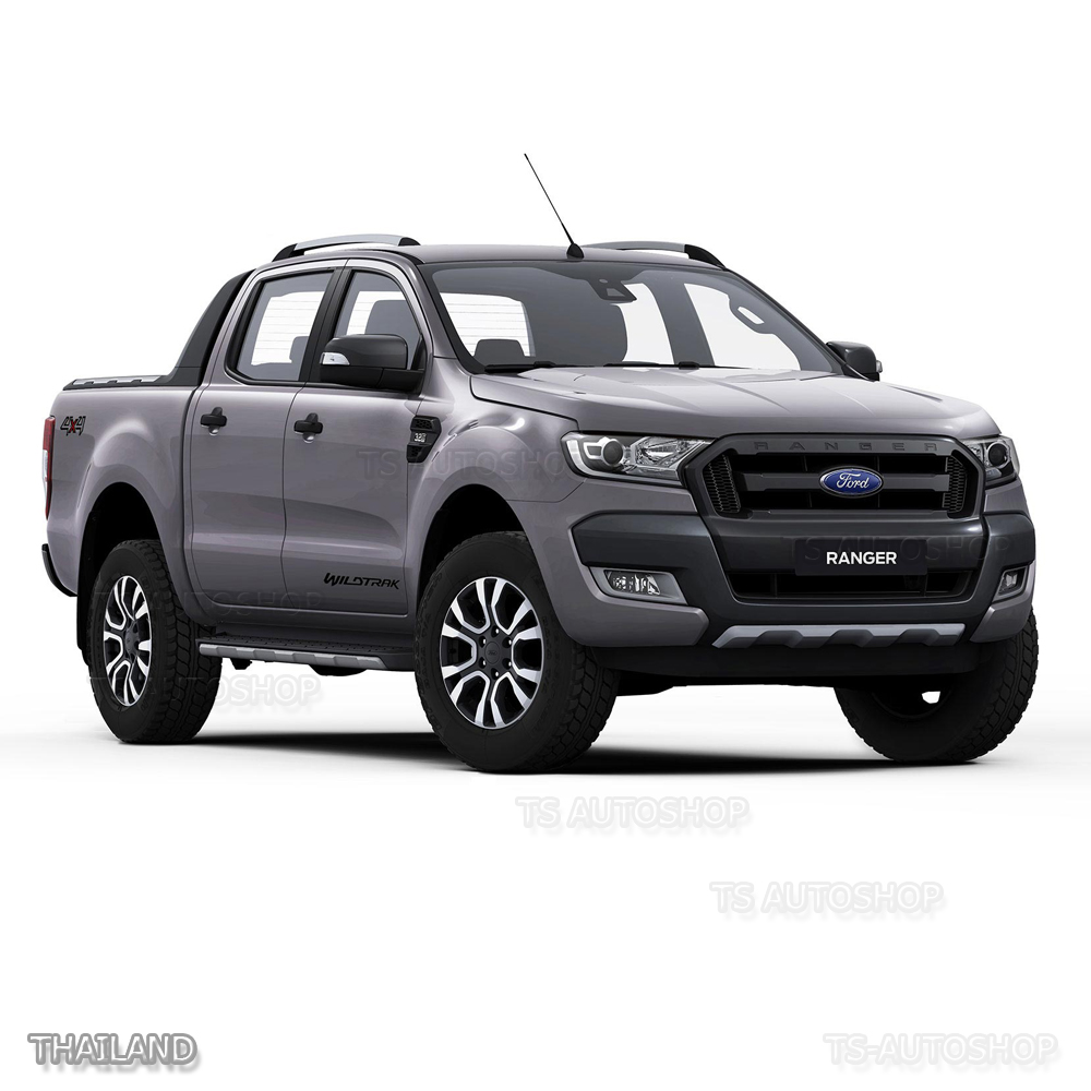 slim body cladding side 4 door grey wildtrak for 12 2015 2017 ford ranger t6 px2 ebay. Black Bedroom Furniture Sets. Home Design Ideas