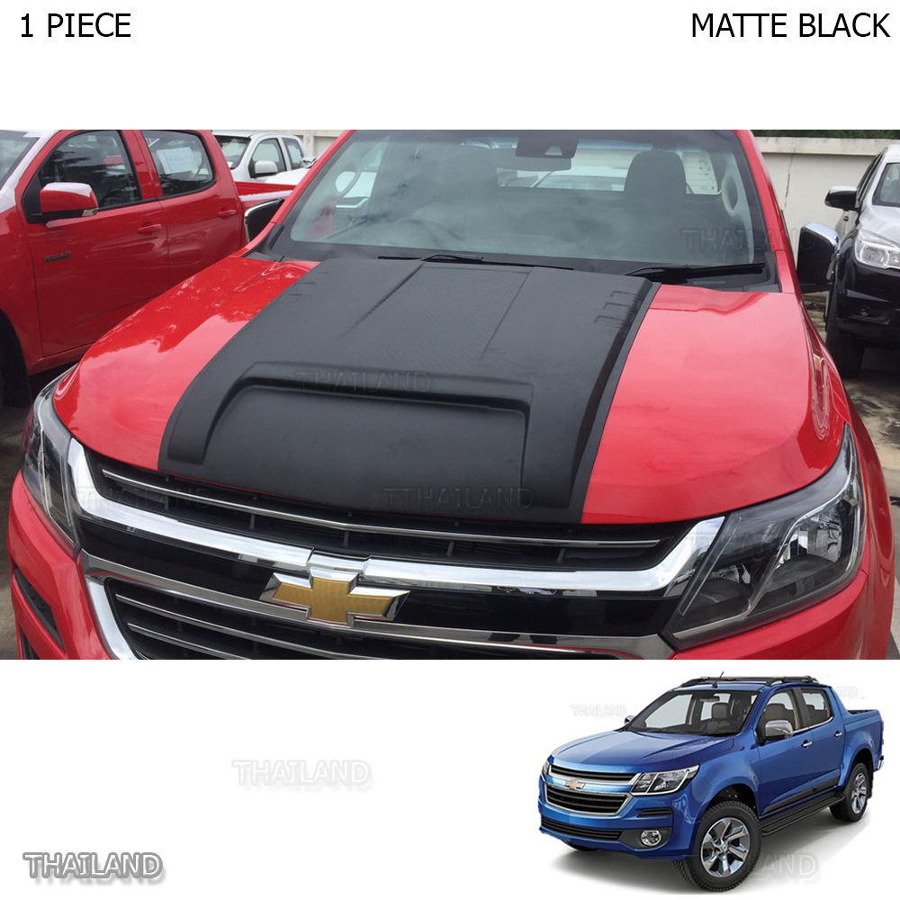 Letter From Thailand >> Matte Black Scoop Bonnet Vent Hood Cover For Chevrolet Holden Colorado Z71 2017 | eBay