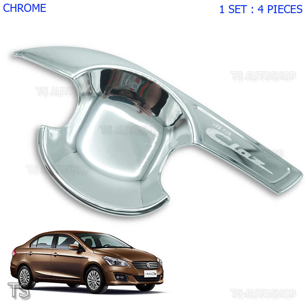 FOR 2013-2017 NISSAN ALTIMA Sedan Chrome 4 Door Handle Bowl Covers Trim Inserts