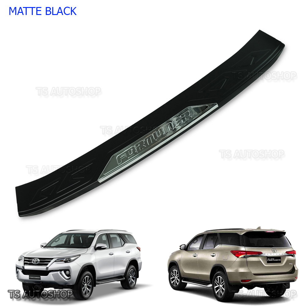 Rear Tailgate Bumper Guards Cover Trim For TOYOTA FORTUNER 2015-2016 SUV 2WD 4WD