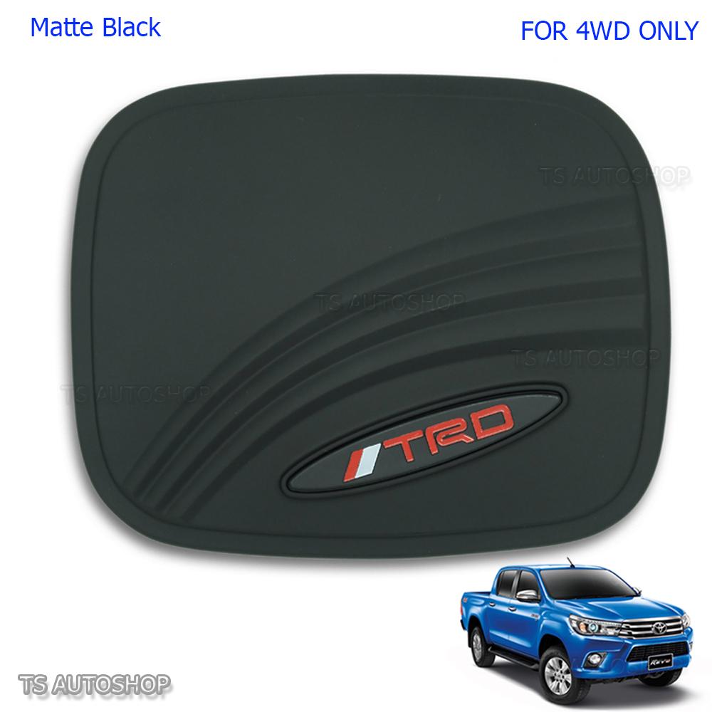 Chrome Oil Fuel Cap Tank Door Cover Fit Toyota Hilux Revo 4x4 Sr5 M70 M80 2016