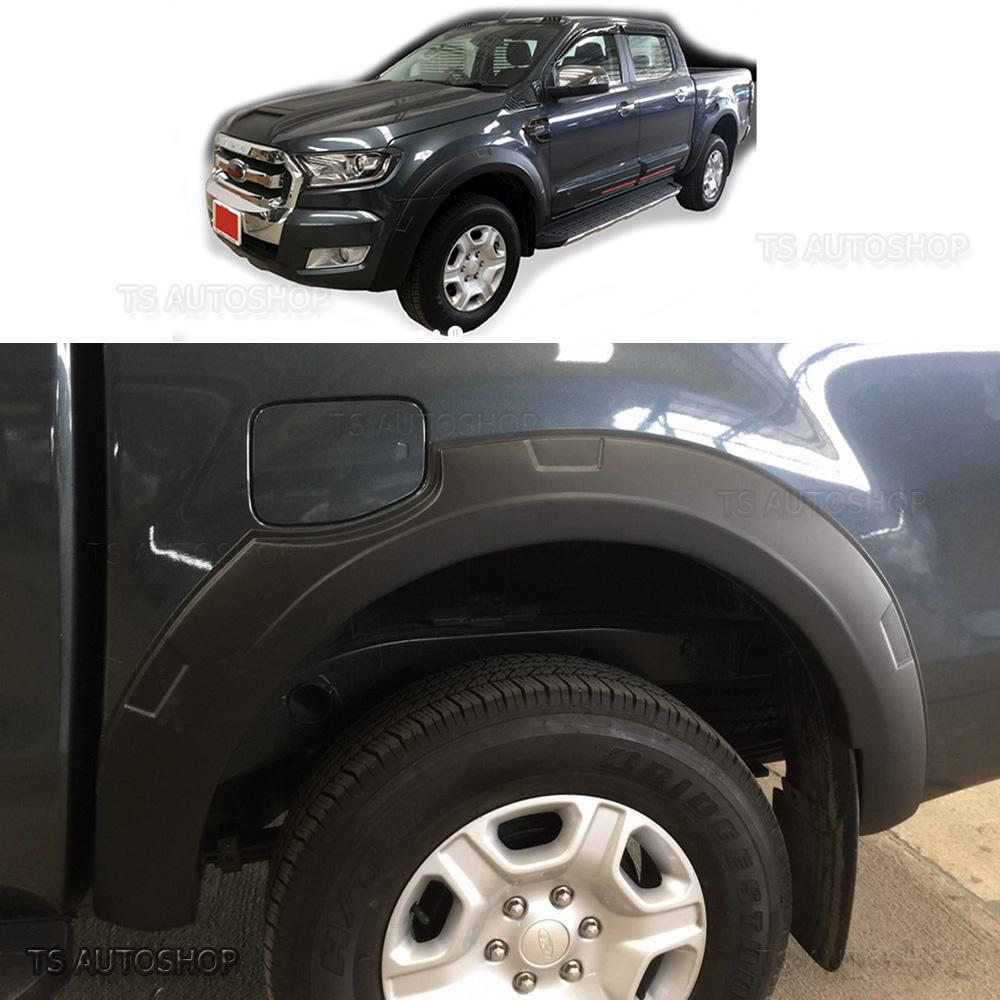 MATTE BLACK FORD RANGER MK2 MINOR CHANGE FENDER FLARES WHEEL ARCH WILDTRAK 2015 Vehicle Parts & Accessories Other External/Body Parts