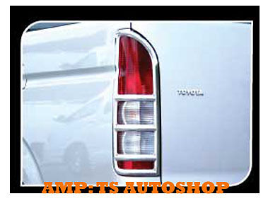 CHROME TAIL LIGHT LAMP COVER TRIM FOR TOYOTA HIACE COMMUTER VAN 2008-2014