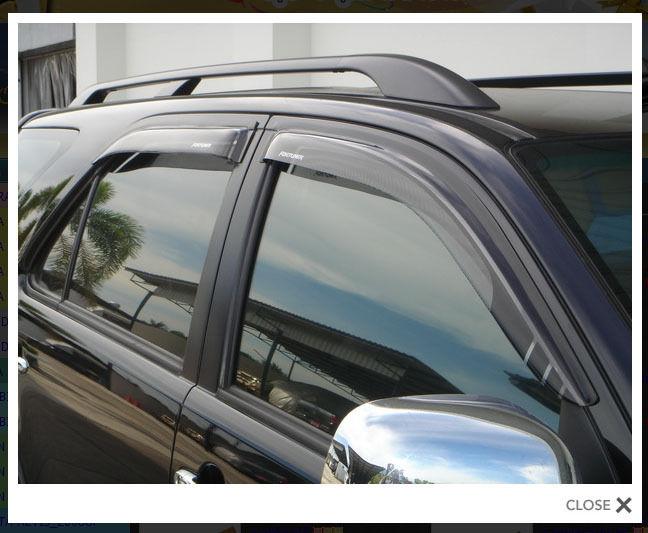 4 DOOR VISOR RAIN WEATHER GUARD FOR NEW TOYOTA FORTUNER 2011+
